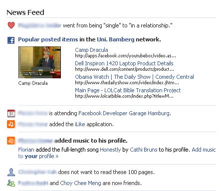 Übersicht einiger Single Gruppen von Facebook